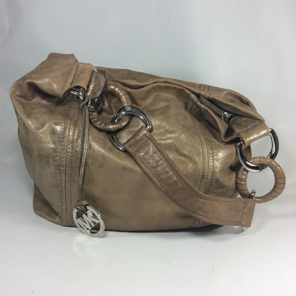 3f94f9f09735 MICHAEL by Michael Kors tangold leather hobo bag ...